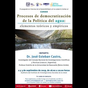 """Curso """"Procesos de democratización de la Política del agua: elementos teóricos y empíricos"""" @ Auditorio"""
