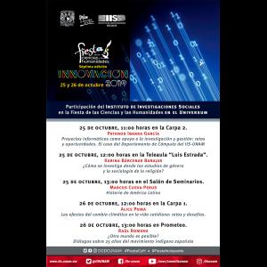 Participación del IIS-UNAM en la Fiesta de las Ciencias y las Humanidades 2019 @ Museo de las Ciencias Universum