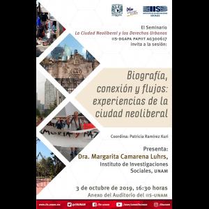 Biografía, conexión y flujos: experiencias de la ciudad neoliberal @ Anexo