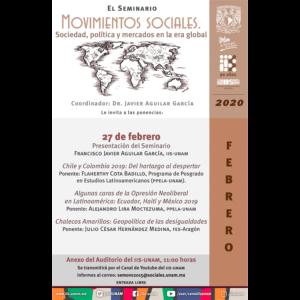Seminario Movimientos Sociales. Sociedad, Política y Mercados en la Era Global (febrero) @ Anexo