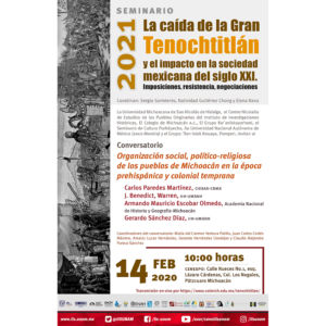 Organización social, político-religiosa de los pueblos de Michoacán en la época prehispánica y colonial temprana @ CENESPO , Pátzcuaro Michoacán