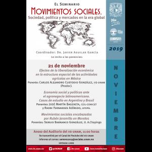 Seminario Movimientos Sociales. Sociedad, Política y Mercados en la Era Global (noviembre) @ Anexo