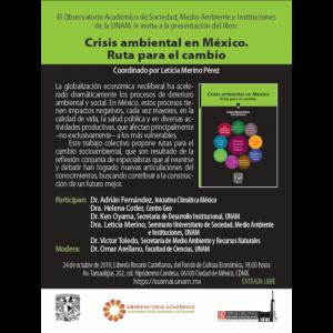 """Presentación del libro """"Crisis ambiental en México. Ruta para el cambio"""" @ Librería """"Rosario Castellanos"""""""