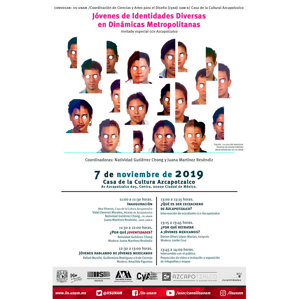 Jóvenes de Identidades Diversas en Dinámicas Metropolitanas @ Casa de la Cultura Azcapotzalco