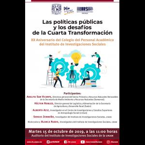 Las políticas públicas y los desafíos de la Cuarta Transformación @ Auditorio