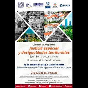 Justicia espacial y desigualdades territoriales @ Auditorio