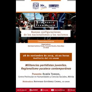 Militancias partidistas juveniles. Regionalismo yucateco contemporáneo @ Auditorio