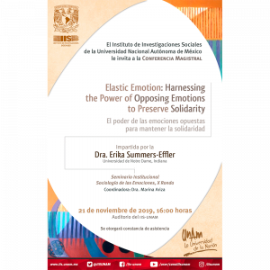 Elastic Emotion: Harnessing the Power of Opposing Emotions to Preserve Solidarity @ Auditorio