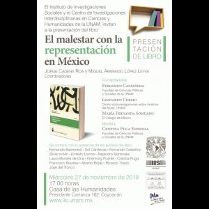 """Presentación del libro """"El malestar con la representación en México"""" @ Casa de las Humanidades de la UNAM"""