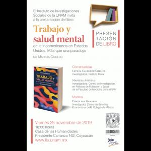 """Presentación del libro """"Trabajo y salud mental de latinoamericanos en Estados Unidos más que una paradoja"""" @ Casa de la Humanidades de la UNAM"""