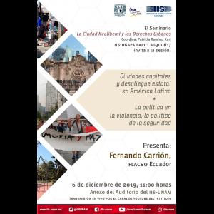 Ciudades capitales y despliegue estatal en América Latina / La política en la violencia, lo político de la seguridad @ Anexo