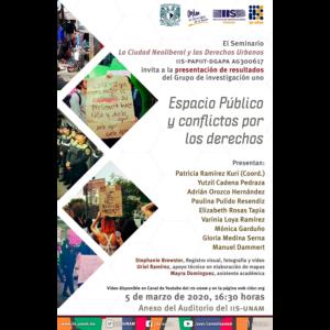 Espacio público y conflictos por los derechos @ Anexo