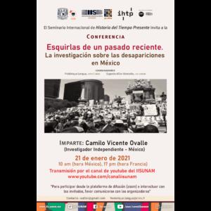 Esquirlas de un pasado reciente. La investigación sobre las desapariciones en México @ Transmisión por Youtube