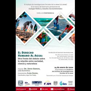El derecho humano al agua: Otra frente del debate sobre la relación entre sociedad, ciencia y naturaleza @ Auditorio