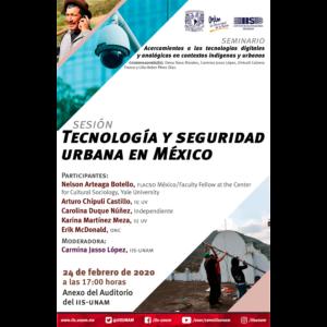 Tecnología y seguridad urbana en México @ Auditorio