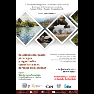 Relaciones desiguales por el agua y organización comunitaria en Michoacán @ Transmisión por Youtube