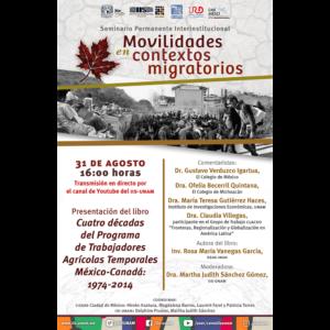 """Presentación del libro """"Cuatro décadas del Programa de Trabajadores Agrícolas Temporales México-Canadá: 1974-2014"""" @ Transmisión por Youtube"""