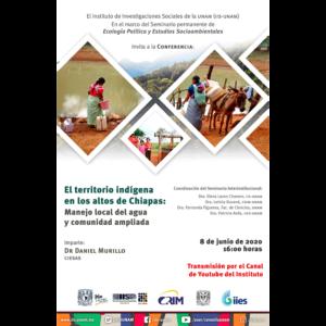 El territorio indígena en los altos de Chiapas: Manejo local del agua y comunidad ampliada @ Transmisión por Youtube