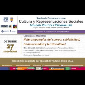 Heterotopologías del cuerpo: subjetividad, transversalidad y territorialidad @ Transmisión por Youtube