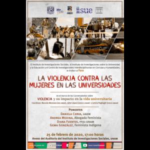 La violencia contra las mujeres en las universidades @ Anexo