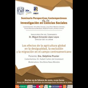 Los efectos de la agricultura global en la desigualdad, la exclusión y la migración en el campo centroamericano @ Anexo