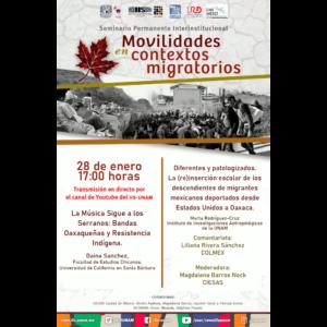 Seminario Permanente Interinstitucional Movilidades en contextos migratorios (enero) @ Transmisión por Youtube