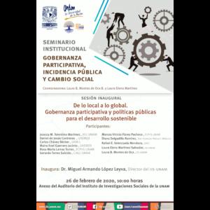 De lo local a lo global, Gobernanza participativa y políticas públicas para el desarrollo sostenible @ Anexo