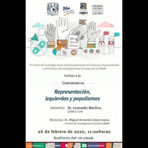Representación, izquierdas y populismos @ Auditorio