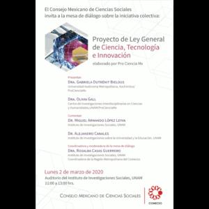 Proyecto de Ley General de Ciencia, Tecnología e Innovación elaborado por Pro Ciencia Mx @ Auditorio