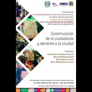 Construcción de la ciudadanía y derecho a la ciudad @ Anexo