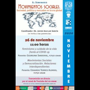 Seminario Movimientos sociales. Sociedad, política y mercados en la era global (noviembre) @ Transmisión por Youtube