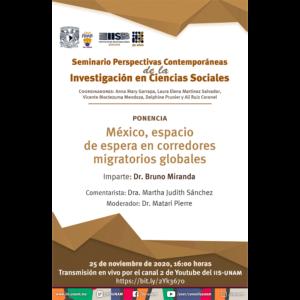 México, espacio de espera en corredores migratorios globales @ Transmisión por Youtube