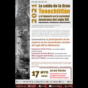 La participación de las mujeres en los movimientos sociales del siglo XXI en Michoacán @ Transmisión por Facebook