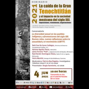 La diversidad sexual en los pueblos indígenas y afromexicanos del siglo XXI. Nuevos retos, nuevas reflexiones sobre la sexualidad y el movimiento LGBTTTI @ Transmisión por Youtube