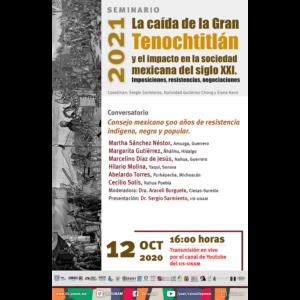 Consejo mexicano 500 años de resistencia indígena, negra y popular @ Transmisión por Youtube