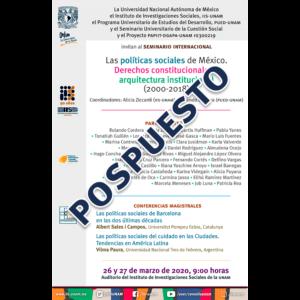 Las políticas sociales de México. Derechos constitucionales y arquitectura institucional @ Auditorio