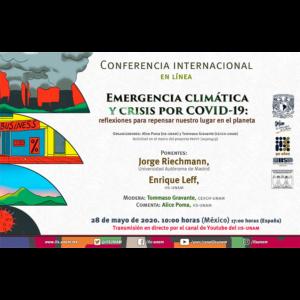 Emergencia climática y crisis por COVID-19: reflexiones para repensar nuestro lugar en el planeta @ Transmisión por Youtube