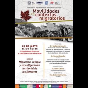 Migración, refugio y reconfiguración territorial de las fronteras @ Transmisión por Youtube