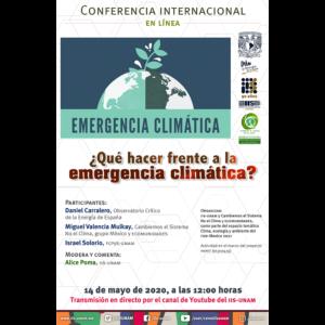 ¿Qué hacer frente a la emergencia climática? @ Transmisión por Youtube