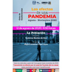 """Los efectos de una pandemia: """"La población"""" @ Transmisión por Youtube"""