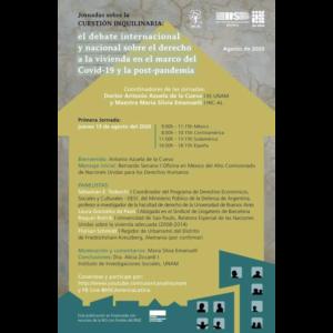 Jornadas sobre la cuestión inquilinaria: el debate internacional y nacional sobre el derecho a la vivienda en el marco del Covid-19 y la post-pandemia @ Transmisión por Youtube