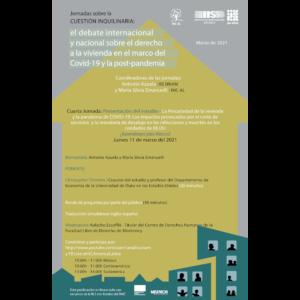 """Presentación del estudio """"La Precariedad de la vivienda y la pandemia de COVID-19: Los impactos provocados por el corte de servicios y la moratoria de desalojo en las infecciones y muertes en los condados de EE.UU"""" ¿Aprendizajes para México? @ Transmisión por Youtube"""