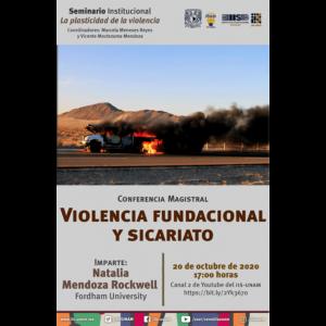 Violencia fundacional y sicariato @ Transmisión por Youtube