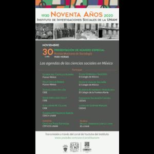 Presentación de número especial Revista Mexicana de Sociología @ Transmisión por Youtube
