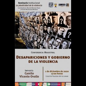 Desapariciones y gobierno de la violencia @ Transmisión por Youtube