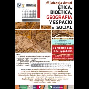 Ética, Bioética, Geografía y Espacio Social @ Transmisión por Youtube