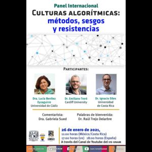 Culturas algorítmicas: métodos, sesgos y resistencias @ Transmisión por Youtube