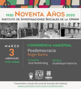"Conferencia magistral ""Posdemocracia"" @ Transmisión por Youtube"