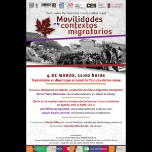 Seminario Permanente Interinstitucional Movilidades en contextos migratorios (marzo) @ Transmisión por Youtube