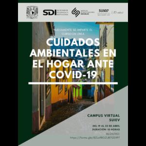 """Curso en línea """"Cuidados ambientales en el hogar ante Covid-19"""" @ Transmisión por videoconferencia"""